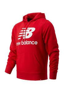 New Balance Herren Hoodie ESSENIALS STACKED LOGO HOODIE MT03558 Other Red