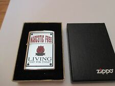 VERY RARE NFL NARCOTIC FREE LIVING ZIPPO AWARD LIGHTER CIRCA 1998 ONE OF A KIND