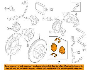 BMW OEM 12-16 ActiveHybrid 5 Brake-Rear Pads 34216862202