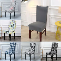 1/6Pcs Wedding Banquet Chair Cover Stretch Spandex Decor Dining Room Seat Cover