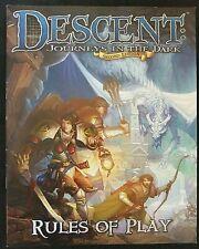 Reglas de juego libro, descenso: viajes en la oscuridad (2nd), FFG