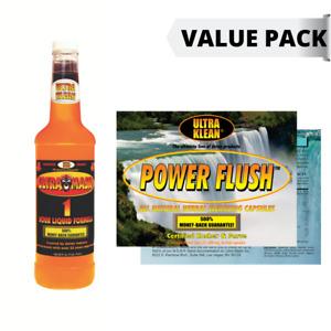 DETOX PACK:Ultra Klean 750ml Detox Drink+Power Flush Capsules (Mandarin Orange)