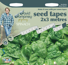 David Domoney Get Growing Spinach Seed Tapes
