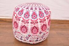 Indian Handmade Pouffe Ottoman Cover Indian FootStool Floor Cushion Bean Bag UK