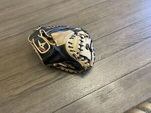 "All Star Pro Elite 33.5"" Catchers Mitt Baseball Glove Black Camel"