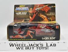 Laser Bolt 100% Complete MIB He-Man Masters of the Universe MOTU 1985 Mattel