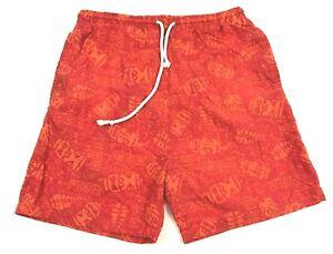 VINTAGE Wave Gear Swim Trunks Youth Size 16 - 18 Kids Orange Boardshorts Lined