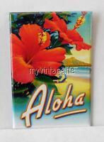 """HAWAII ALOHA HIBISCUS 2"""" x 3"""" Fridge MAGNET HAWAIIAN FLOWER"""