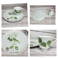 VTG Hocquart Del Et Sculp Pl 95 Clematite Brulante Tea Cup And Plate Set