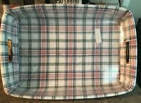 Longaberger Hostess Serving Tray O/E LINER Market Day Plaid (NEW)