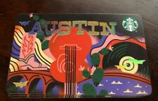 Starbucks Newest AUSTIN TEXAS CITY CARD Gift Card Zero Balance 2020 NEW