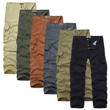 Mens Summer Trousers Cargo Combat Trendy Lightweight Work Pants Baggy Loose