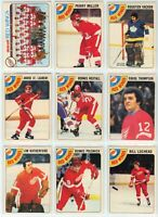 1978-79 OPC Detroit Red Wings 19 Card Team Set EX to NM (04-03202020)