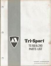 Reproduction Alsport Tri-Sport Parts List Manual TS150 TS290