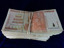 Zimbabwe 50 Billion Dollar Note CIRCULATED 5 Bundles=500 Notes AA/AB 2008 Series