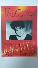 The Cure Kiss me Kiss me tour 87 vintage music postcard POST CARD