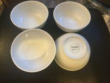 Lot Of 4 Oneida Nappie 15 Ounce Bowls Bright White Brand New