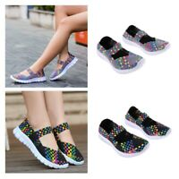 Women Lady Casual Shoes Sport Woven Shoes Sandals Swing Shoes Breathable