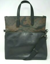 Coach Men's Graham Signature Camo Print Crossbody Foldover Tote F72527