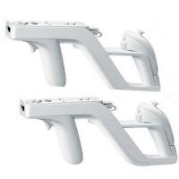 2pcs  Zapper Gun for Nintendo Wii Remote Wiimote Controller New white