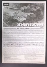 Academy 1/35 Scale Directions for Achilles Tank Kit No. 1392