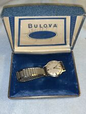 Vtg 1960's Bulova M3 Men's Waterproof Wrist Watch manual wind Keeps time NR