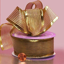1 1/2 inch wide Belfort Metallic Ribbons gold color price for 2 yards