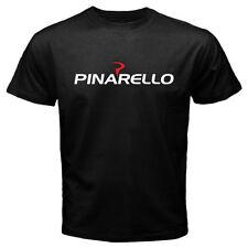 New Pinarello Italian Bicycle Logo Men's Black T-Shirt Size S to 3XL
