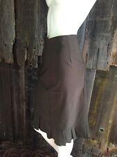 SHARON TANG Med Modest Green Ruffled Maxi Skirt Apparel Rayon Size Large