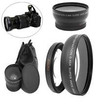 Camera 49mm 0.45X Wide Angle Macro Lens with 2 Caps for Sony A NEX3 NEX5 NEX-C3
