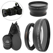 Camera 49mm 0.45X Wide Angle Macro Lens with 2 Caps for Sony A NEX3 NEX5 NEX-C3
