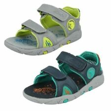 Leather Sandals for Boys with Hook & Loop Fasteners