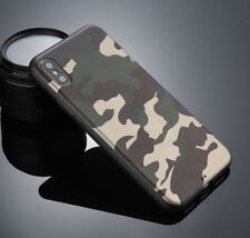 Coque Etuis Housse Protection TPU Camouflage militaire vert iPhone X