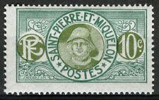 St Pierre et Miquelon 1922-28, 10c Fisherman MNH, Yv 108 MNH