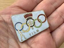 More details for unusual enamel olympic games rank film badge numbered 33.