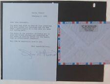 Olivia Havilland signed letter to Gene Andrewski/1996