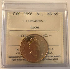 1996 Canada LOONIE $1 One Dollar ICCS MS65 **NO TAX**