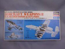 Hasegawa Aircraft Weapons 1/72 Scale Box Toy War Aircraft Display PM321