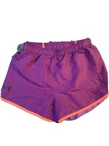 Under Armour Girls Purple Athletic Heat Gear Shorts Size YLG