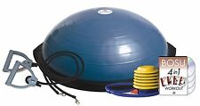 Bosu Ball Home Balance Trainer 65cm w Fitness Bands DVD Wall Chart & Pump NEW