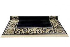 Teppich Läufer Schwarz Kunst Seide Mäander Medusa Möbel  Rug 67 x 400 cm versac