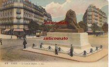 CARTOLINA Paris le lion de Belfort LL - viaggiata 1923 colori animata postcard