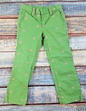 GAP Kids Girl's Size 5 Reg Pants Green with Snails
