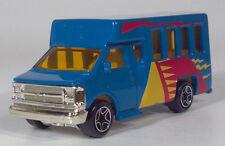 1998 Matchbox GMC School Chevy Transport Bus 1:80 Scale Model Blue