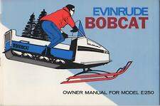 EVINRUDE BOBCAT SNOWMOBILE OWNERS MANUAL