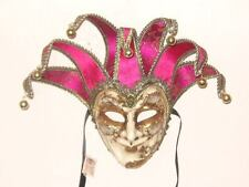 HOT PINK MUSIC JOKER VENETIAN MASQUERADE MASK MARDI GRAS PARTY COSTUME MASKS