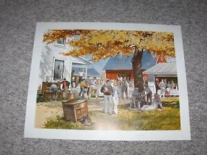 RARE CHARLES PETERSON PRINT (COUNTRY AUCTION)