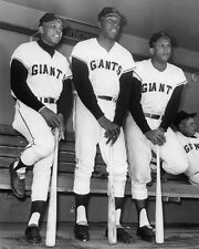San Francisco Giants WILLIE MAYS WILLIE MCCOVEY ORLANDO CEPEDA 8x10 Photo Poster