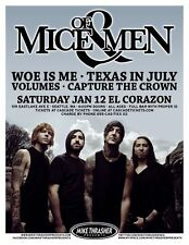 Of Mice And Men 2013 Gig Poster Seattle Washington Concert
