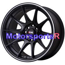 15 15x8.25 XXR 527 Black White Stripe Wheels Rims Concave 4x100 Stance Honda